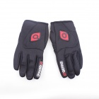 QEPAE F7501 Outdoor Sports Bicycle Anti-Slip Breathable Full-Finger Gloves - Black (L / Pair)
