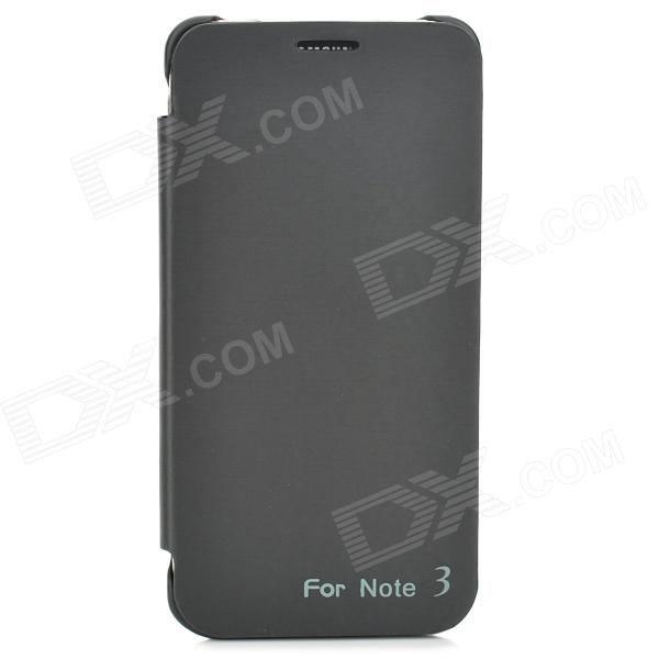 External 3800mAh Power Battery Charger w/ PU Leather Case for Samsung Galaxy Note 3 - Black