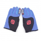 QEPAE F7501 Outdoor Sports Bicycle Anti-Slip Breathable Full-Finger Gloves - Black + Blue (L / Pair)