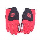 QEPAE F7501 Outdoor Sports Bicycle Anti-Slip Breathable Full-Finger Gloves - Black + Red (L / Pair)