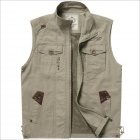 DF1855 Outdoor Leisure Men's Fishing Photography Vest - Khaki (XXL)