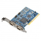 IOCREST IO-PCI1053-4S PCI to 4 DB9 SYSBASE 16C1053 Chip Serial Port Extension Card - Deep Blue