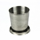 Stainless Steel Outdoor Folding Travel Mug - Silver (50ml)
