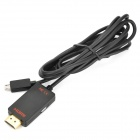 OT-1010 Slimport Micro-B USB Male to HDMI Female myDP HD Cable for Google Nexus 4 / 7 + More (180cm)