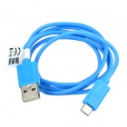 RIchino RS-M01 Micro USB Male to USB Male Data Cable w/ Waterproof Case - Light Blue (92cm)