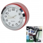Bicycle Mounted Mini Aluminium Alloy Clock Watch - Red + Silver