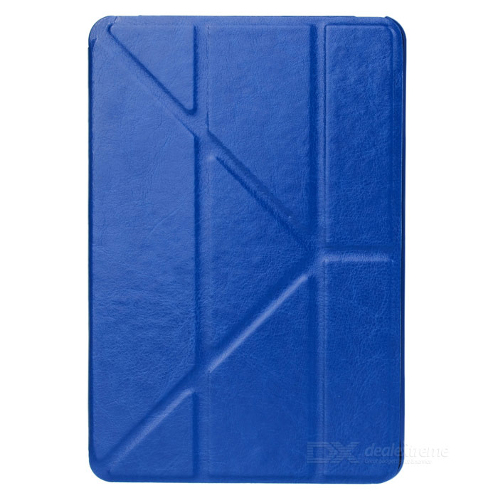 Protective PU Leather Case w/ Auto Sleep for Ipad MINI / Retina Ipad MINI - Deep Blue