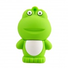 Cute Cartoon Frog Style USB 2.0 Flash Drive Disk - Green + White (16GB)