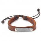 UBE UTY 1003 '' Love is the key to open the gate of happiness'' Letter Bracelet - Black + Copper