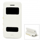 Stylish Flip-Open PU Leather + Plastic Case for Iphone 5C - White