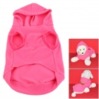JUQI Cute Strawberry Pattern Fleece Pet Apparel for Dog - Pink + Red + Multicolored (Size XL)