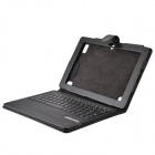 Detachable Bluetooth V3.0 84-Key ABS Keyboard w/ PU Leather Case for Acer A200 A510 A700 - Black