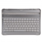 Bluetooth V2.0 78-Key Keyboard w/ Slot for Samsung Galaxy Tab P7500 / 7510 - White + Silver