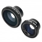 LX-M301 3-in-1 Magnet Absorption Wide Angle + Macro + Fish Eye Lens Set for Iphone / Samsung - Black