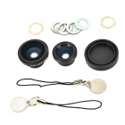 LX-M301 Magnet Absorption Wide Angle + Macro + Fish Eye Lens - Black