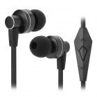 OVLENG iP640 3.5mm Bass In-ear Earphone w/ Microphone - Black