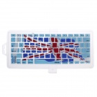 XSKN 799223332C15 Union Jack Protective Silicone Keyboard Cover for MacBook - Light Blue + White