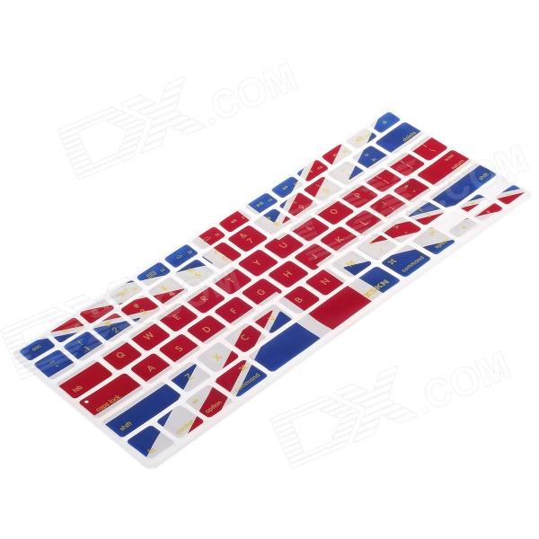 XSKN 799223332C13 Protective Silicone Keyboard Cover for Apple MacBook - Navy Blue + Red + White yg 1 fashionable the union jack pattern temporary lip tattoos stickers red blue white