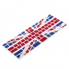 XSKN 799223332C13 Protective Silicone Keyboard Cover for Apple MacBook - Navy Blue + Red + White