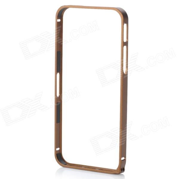 Protective Aluminum Alloy Bumper Frame Case for Iphone 5 / 5s - Khaki protective aluminum alloy bumper frame case for iphone 5 5s black