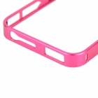 Protective Aluminum Alloy Bumper Frame Case for Iphone 4 / 4s - Deep Pink