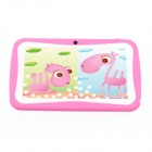 "iRulu AK710 7"" Android 4.0 Tablet PC w/ 512MB RAM, 4GB ROM, Dual-Camera for Kids - Deep Pink + White"