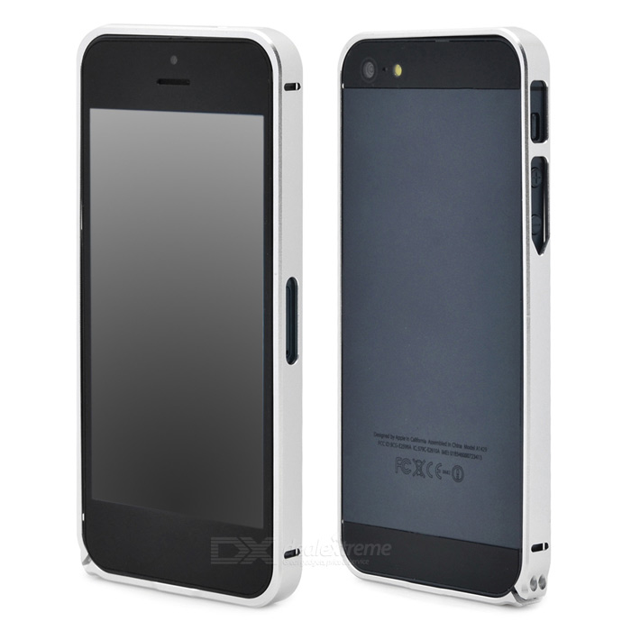 Protective Aluminum Alloy Bumper Frame Case for Iphone 5 / 5s - Silver protective aluminum alloy bumper frame case for iphone 5 5s black