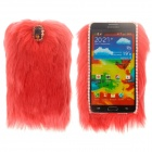 Keep Warm Protective PC Back Case w/ Artificial Rabbit Hair for Samsung Galaxy Note 3 N9000 - Red