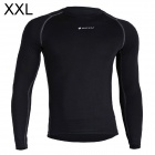 NUCKILY MH003 Men's Outdoor Cozy Sports Jersey for Hiking / Cycling - Black (XXL)