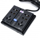 Multifuncional 6-Outlet elétrica bar barra de energia splitter w / switch - preto (250V)