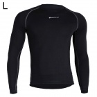 NUCKILY MH003 Men's Outdoor Cozy Sports Jersey for Hiking / Cycling - Black + Blue (L)