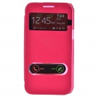 TEMEI PU Leather Case Cover w/ Visual Window / Slide to Unlock for Samsung Galaxy Win i8552 - Red