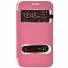 TEMEI PU Leather Case Cover w/ Visual Window / Slide to Unlock for Samsung Galaxy Win i8552 - Pink
