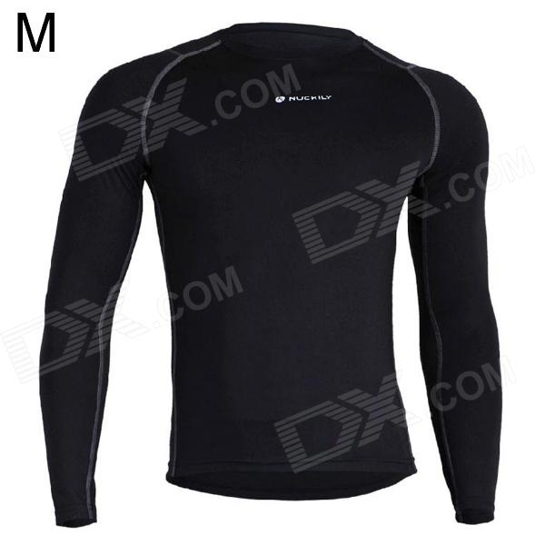 NUCKILY MH003 Outdoor Sport Cycling Men's Long-Sleeve Jersey Clothing - Black (Size M)