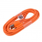 Micro USB Male to USB 2.0 Male Data Sync / Charging Cable for Samsung + More - Orange (300cm)