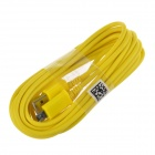 Micro USB macho a USB 2.0 Male Data Sync / cable de carga para Samsung + más - Amarillo (300cm)