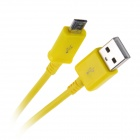 Micro USB Male to USB 2.0 Male Data Sync / Charging Cable for Samsung + More - Yellow (300cm)