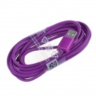 Micro USB Male to USB 2.0 Male Data Sync / Charging Cable for Samsung + More - Purple (300cm)