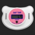 Pacifier Style 0.7'' LCD Digital Thermometer for 6~12 Months Baby - White + Pink