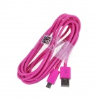 Micro USB Male to USB 2.0 Male Data Sync / Charging Cable for Samsung + More - Deep Pink (300cm)