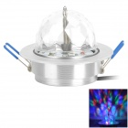 YP-435 3W 45lm 3-LED RGB Light Stage Bulb - White Silver (AC 100~240V / US Plug)
