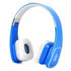 Jolly Roger M1 Folding Headphones w/ Microphone for Iphone / Ipad / Samsung - Blue + Grey