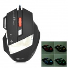 JEWAY JM1302 USB 2.0 Wired 800 / 1200 / 1600 / 2400dpi LED Gaming Mouse - Black + Silver