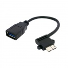 CY Left Angled 90 Degree Micro USB 3.0 OTG Host Flash Disk Cable for Samsung Galaxy Note 3 N9000