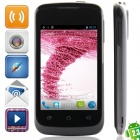 "S2 MTK6572 Dual-core Android 2.3.6 WCDMA Bar Phone w/ 3.5"" Capacitive, FM and Wi-Fi - Black"