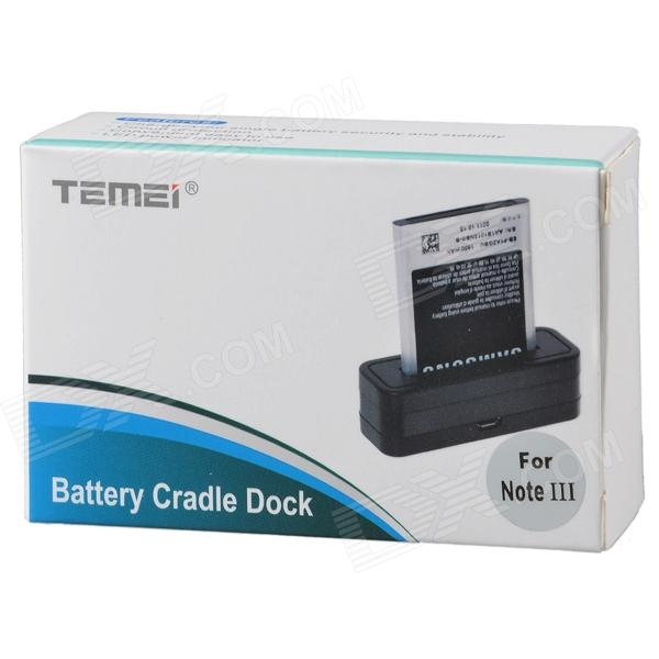 temei battery charger cradle dock for samsung galaxy note 3 n9000 black free shipping. Black Bedroom Furniture Sets. Home Design Ideas