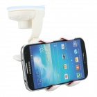 Universal Clip-on Car Mount Holder Bracket for iPhone 4 / 4s / Samsung / HTC + More - White