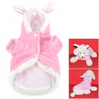 JUQI Cute Rabbit Style Cotton Pet  Apparel Clothes for Dog / Cat - Pink + White (Size M)