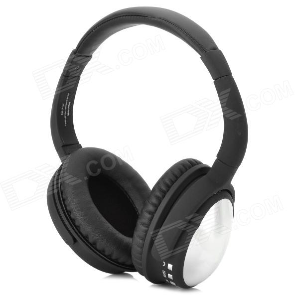 AT-BT805 Bluetooth v2.1 Stereo Headphones w/ TF / FM / Microphone - Black + Silver White