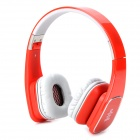 Jolly Roger M1 Folding Headphones w/ Microphone for Iphone / Ipad / Samsung - Red + Grey